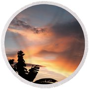 Abuja Sunset Round Beach Towel