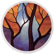 Abyss Of Aether Round Beach Towel