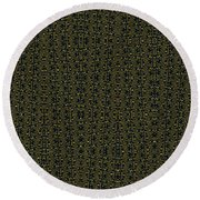 Acacia Fabric Design Round Beach Towel