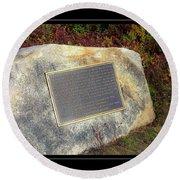 Acadia National Park Centennial Plaque Round Beach Towel
