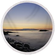 Acadia Sunrise Round Beach Towel
