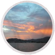 Acapulco01 Round Beach Towel