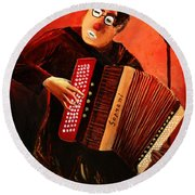 Accordeon Round Beach Towel