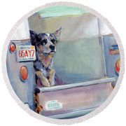 Acd Delivery Boy Round Beach Towel