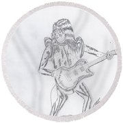 Ace Frehley Round Beach Towel