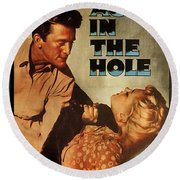 Ace In The Hole Film Noir Round Beach Towel