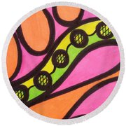 Aceo Abstract Design Round Beach Towel