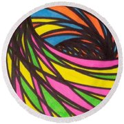 Aceo Abstract Spiral Round Beach Towel