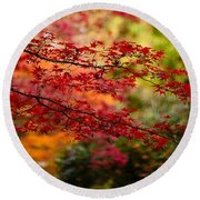 Acer Colors Round Beach Towel