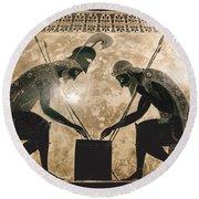 Achilles & Ajax, C540 B.c Round Beach Towel