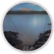 Achnahaird Bay And Assynt Mountains Round Beach Towel