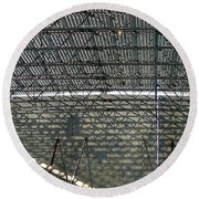 Acoustic Deck Shadows Round Beach Towel