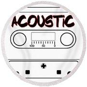 Acoustic Music Tape Cassette Round Beach Towel