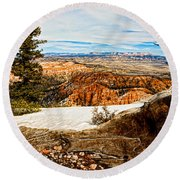 Across The Canyon Round Beach Towel