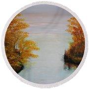 Acrylic Msc 064 Round Beach Towel
