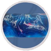 Acrylic Resin Pour Round Beach Towel