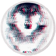 Act Like A Wolf Round Beach Towel