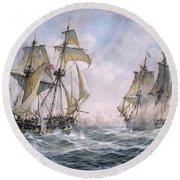 Action Between U.s. Sloop-of-war 'wasp' And H.m. Brig-of-war 'frolic' Round Beach Towel