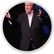 Actor And Comedian William Shatner Round Beach Towel