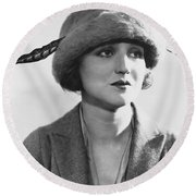 Actress Agnes Ayres Round Beach Towel
