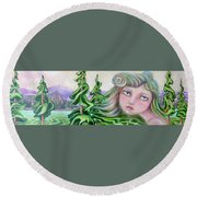 Acts Of Creation Round Beach Towel