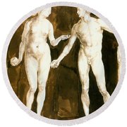 Adam And Eve 1504 Round Beach Towel