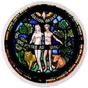 Adam And Eve, Dinant Round Beach Towel