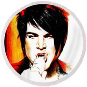 Adam Lambert Round Beach Towel