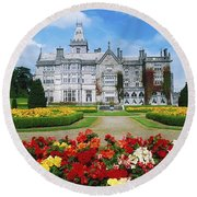 Adare Manor Golf Club, Co Limerick Round Beach Towel