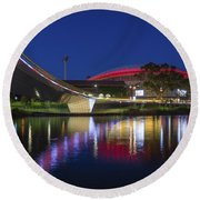 Adelaide Oval Elegance Round Beach Towel
