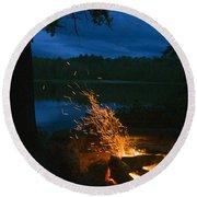 Adirondack Campfire Round Beach Towel