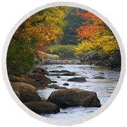 Adirondack Fall Stream 2 Round Beach Towel