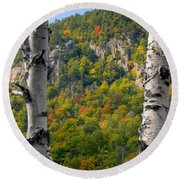 Adirondack Mountains New York Round Beach Towel