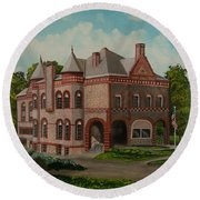 Administration Building Round Beach Towel