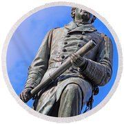 Admiral David Farragut In Farragut Square Round Beach Towel