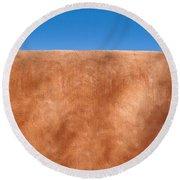 Adobe Wall Santa Fe Round Beach Towel