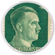 Adolf Hitler 42 Pfennig Stamp Classic Vintage Retro Round Beach Towel