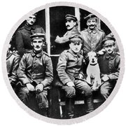 Adolf Hitler With  Fellow Soldiers From The List Regiment  Number Two Circa 1916 Round Beach Towel
