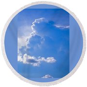 Adoration Of The Heaven Above Round Beach Towel