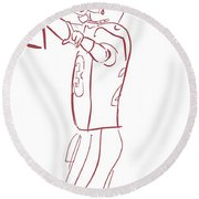 Adrian Peterson Cardinals Round Beach Towel
