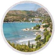 Adriatic Coast In Croatia Round Beach Towel