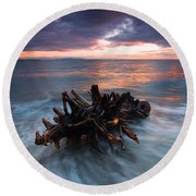 Adrift Round Beach Towel by Mike  Dawson