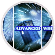 Advanced Whovians Alt Round Beach Towel