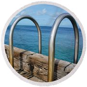 Adventure Into The Blue Round Beach Towel
