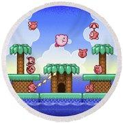 Adventure Kirby Round Beach Towel