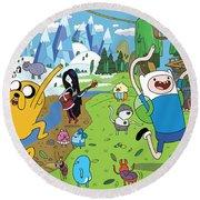 Adventure Time Round Beach Towel
