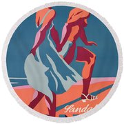 Advertisement For Bally Sandals Round Beach Towel