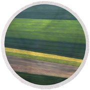Aerial Abstract Round Beach Towel