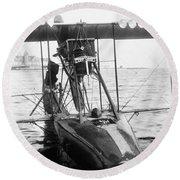 Aerial Torpedo, 1915 Round Beach Towel