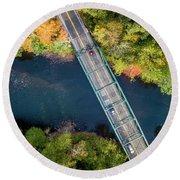 Aerial View Of A Bridge Round Beach Towel